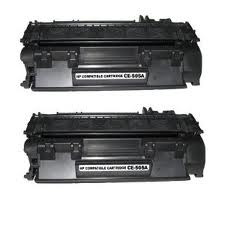 HP LaserJet P2035, P2055 2 Pack Toner Cartridges (CE505A) $25.90 each